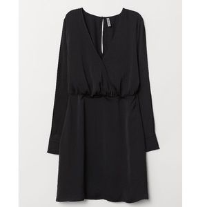 H&M+ V-neck Dress w/ Side Slits on Sleeves